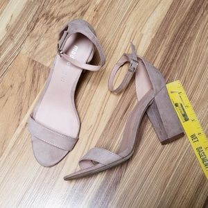 Madden girl taupe high heel sandals